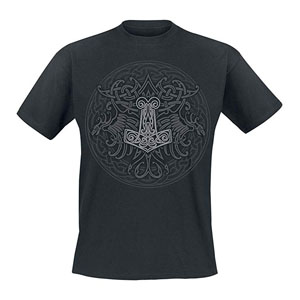 Celtic Viking Shield Camiseta Negro